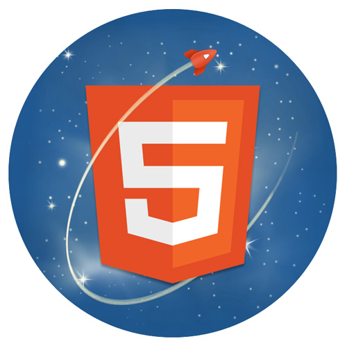 HTML5 and Rawkets logo mashup by Phil Banks